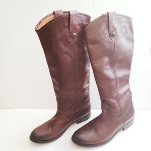 Frye Melissa 2 Knee-High Riding Leather Boots NWOB